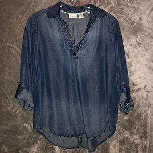 Westbound Denim Pullover with Shirttails